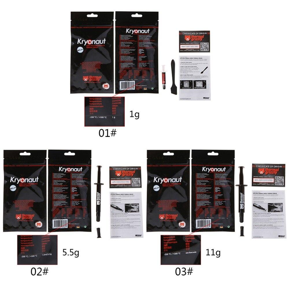 Grasa térmica de refrigeración del procesador de Nueva CPU 12,5 W/pasta blanca mk 3,7g/cm3 ventilador disipador térmico compuesto 1g/5,5g/11g