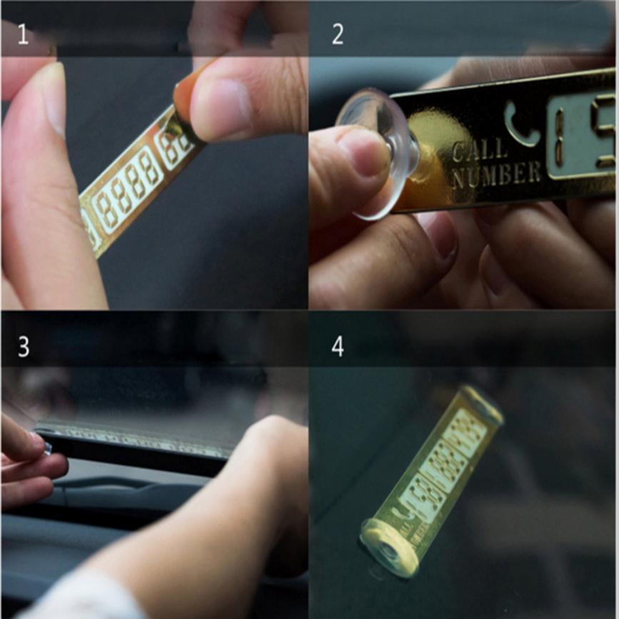 Parking Card Hot Car Telephone Number Card Notice Night Florescent Sucker Plate jun26
