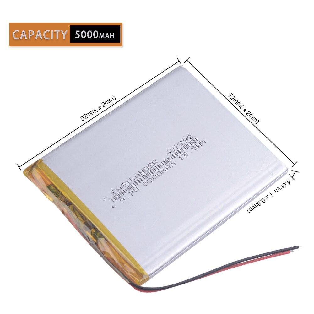 Литий-полимерный аккумулятор 407292 3,7 В 3,8 В 5000 мАч для планшетных ПК Irbis TZ56 TZ49 3g TZ709 TZ707 iPAQ texet tm 7043xd 407090 U25GT