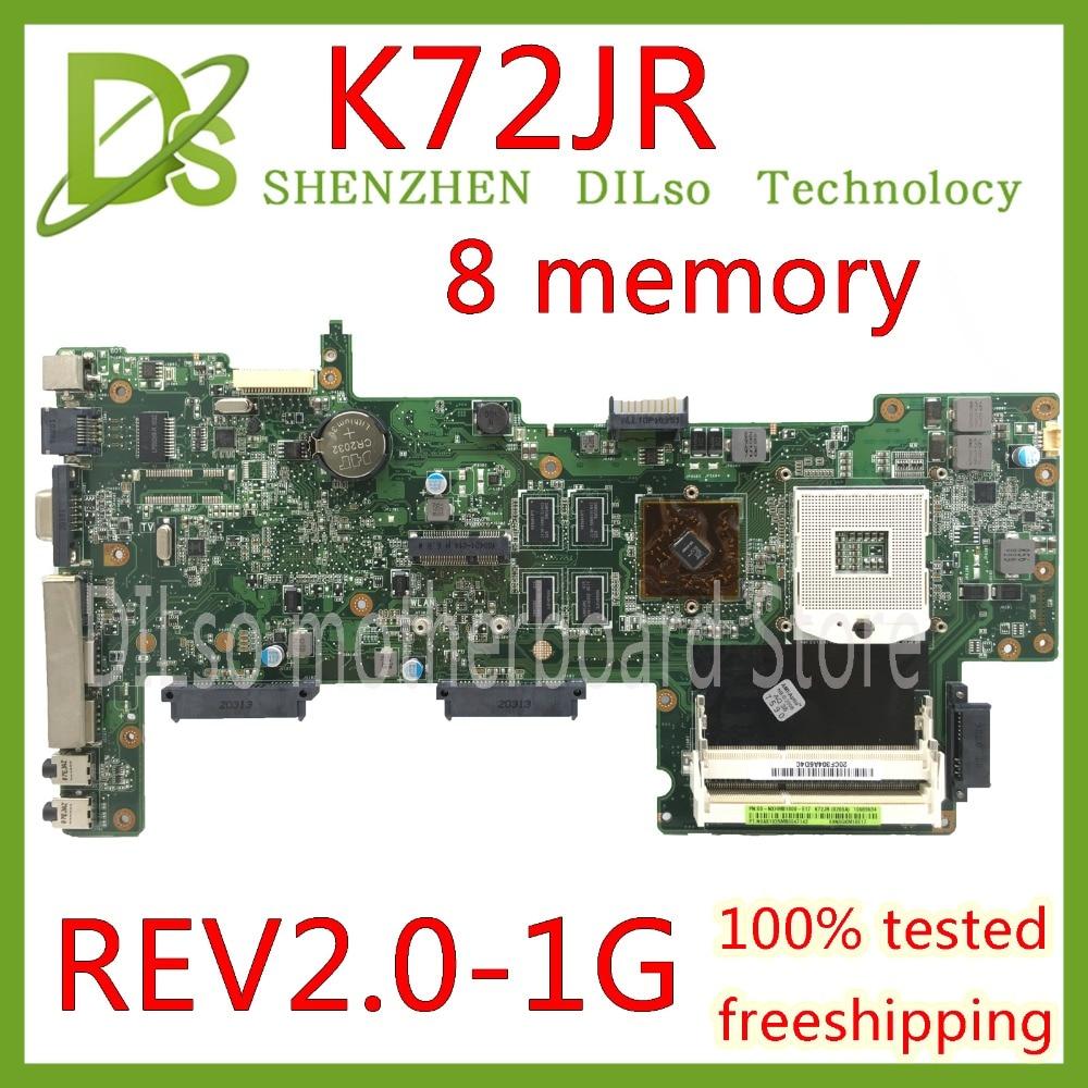 KEFU K72JR motherboard For Asus K72JT K72JK K72JU K72J X72J laptop motherboard  REV 2.0 8 memory PM Test work 100%