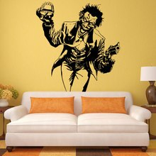 Heath Ledger Joker Wall Sticker Comics Superhero DC Marvel Vinyl Decal Home Interior Decoration Room Art Mural E691