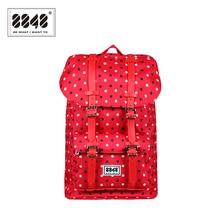 Sac à dos pour femme point rouge gros sacs de haute qualité 500 D imperméable Oxford résistant ordinateur portable 100% Polyester à la mode sac à dos S15020-3