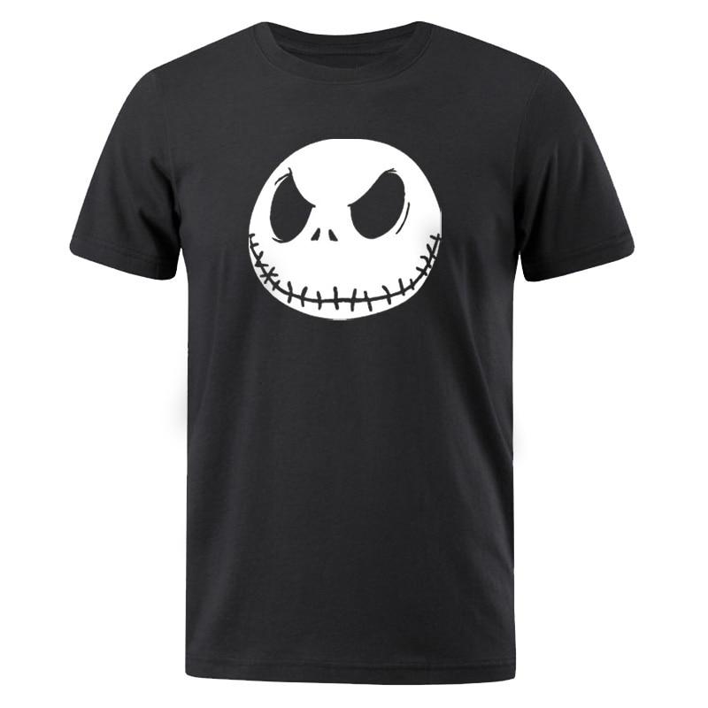 Camisetas veraniegas de pesadilla antes de Navidad para hombre, camiseta de Jack skeleton Evil Face Man, camiseta Hip Hop para hombre, 2019