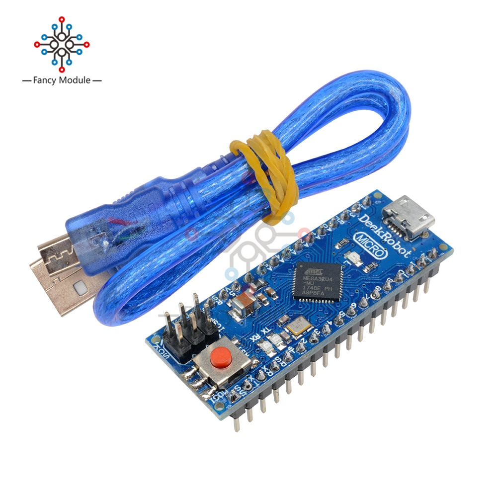 ATmega32u4 5V 16MHZ Micro microcontrolador Módulo de placa de expansión Compatible con Arduino Micro reemplazar Pro Mini USB con Cable USB
