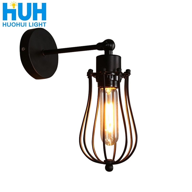 vintage wall lamp American indoor light bedside lamps aisle industrial sconce bedroom for home lighting 110V/220V E27 Wall light wood iron wall lamps vintage sconce wall light fixture e27 220v bedside retro lamp industrial decor dining room bedroom light