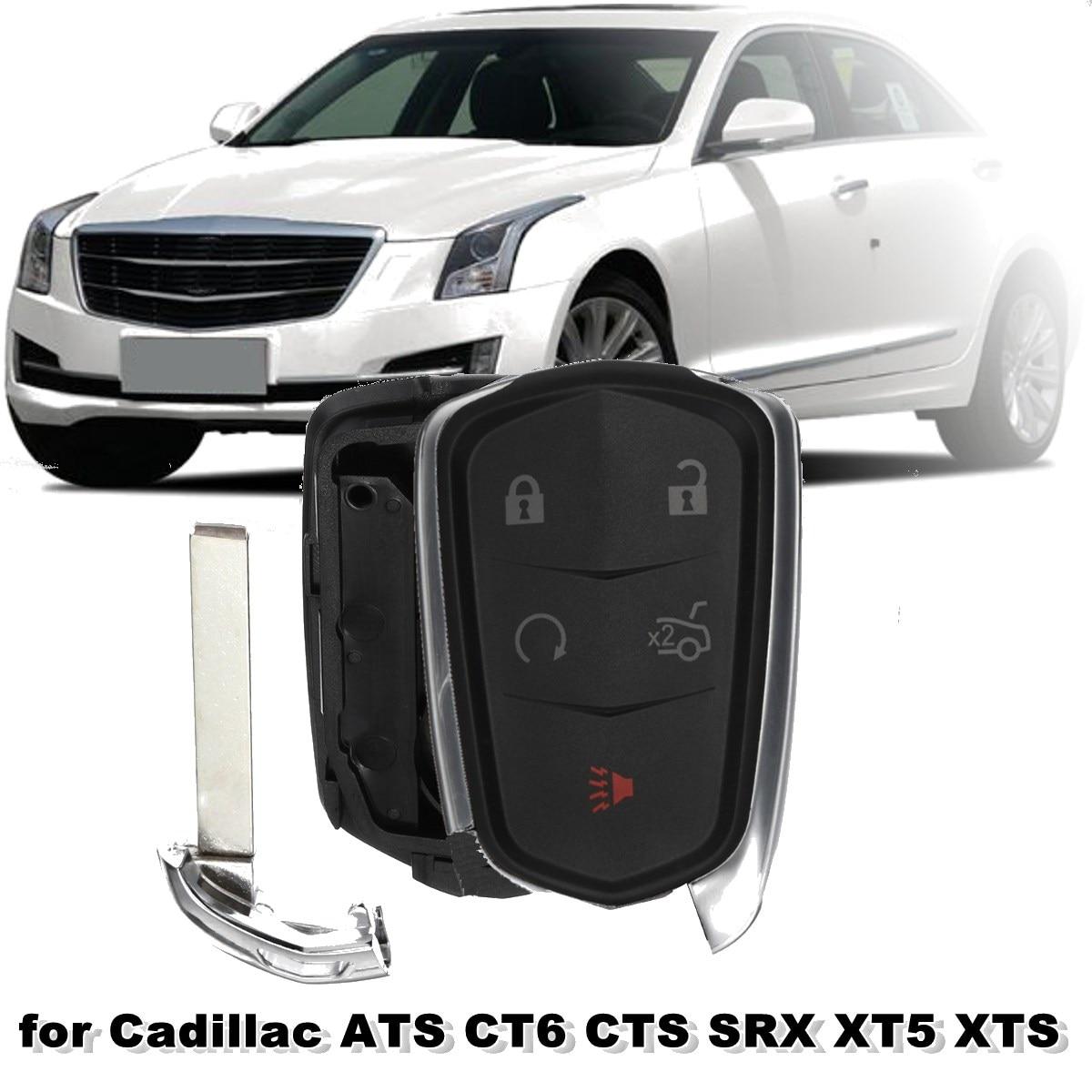 # HYQ2AB # HYQ2EB # 1511A-2B # 1511A-2EB 5 botones mando a distancia carcasa Fob para Cadillac ATS CT6 CTS SRX XT5 XTS 2014 2015 2016