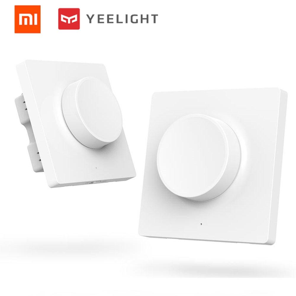Умный выключатель xiaomi yeelight с регулятором яркости и поворотом беспроводной настенный переключатель bluetooth с пультом дистанционного управления для потолочного светильника yeelight