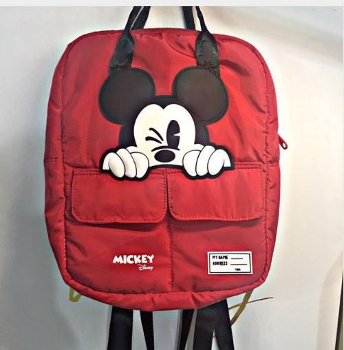Disney Mickey mouse new women bag cartoon backpack nylon parent-child bag fashion backpack Travel bag for school Multifunction