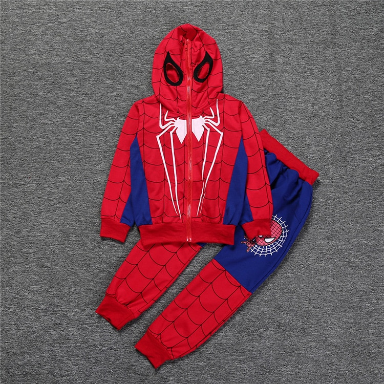 boys Sport Suit Outfits Kids Fashion Brands Clothing Set Boys Sport Set Spiderman Tracksuit Children Hooded Sweatshirt