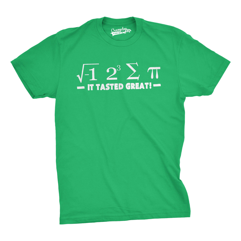 Camiseta para hombre I 8 sum Pi y era deliciosa divertida Ecuacion matemática Harajuku Tops moda clásica única envío gratis