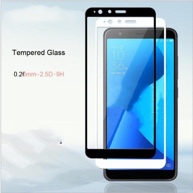 9 H pełna pokrywa precyzyjne przeciwwybuchowa folia ochronna na ekran dla ASUS ZenFone 4 Max Plus M1 ZB570TL hartowane szkło do X018DC