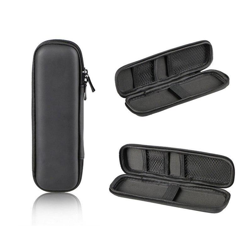 1 pc negro pluma portátil EVA duro Shell sostenedor de la pluma de papelería de oficina caso bolsa auriculares bolsa de maquillaje
