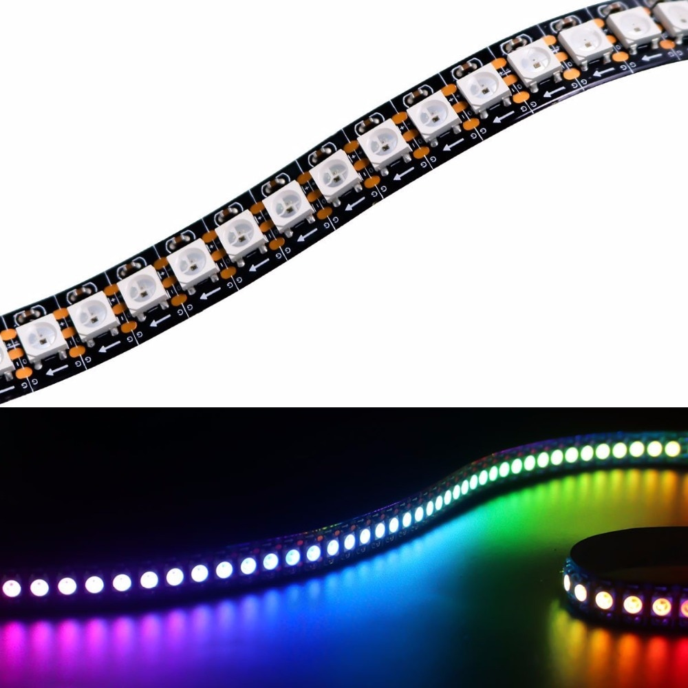 LED 2812 a todo Color 96 LEDs Pixel/M SMD 5050 integrado IC programable direccionable 0.5M1M2M 5V tira de luces IP30/IP67 impermeable
