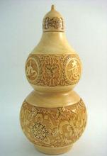 Feng Shui Boxwood Wu Lou W Tibetan Eight Amulets Hulu