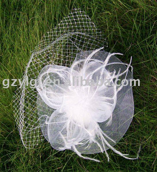 wholesale FASCINATOR ,dances,races,weddings,Party HAT costume White flower hair Hat  H21