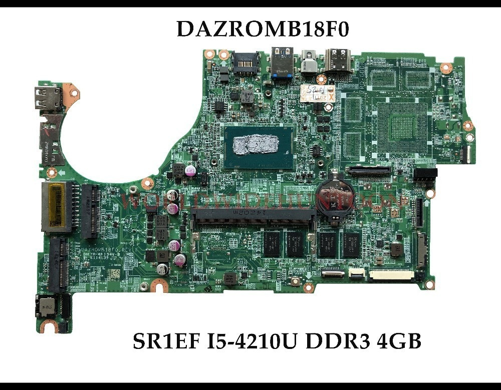 Alta calidad DAZROMB18F0 para ACER Aspire V5-573 V5-573P placa base de computadora portátil SR1EF I5-4210U DDR3L 4GB 100% totalmente