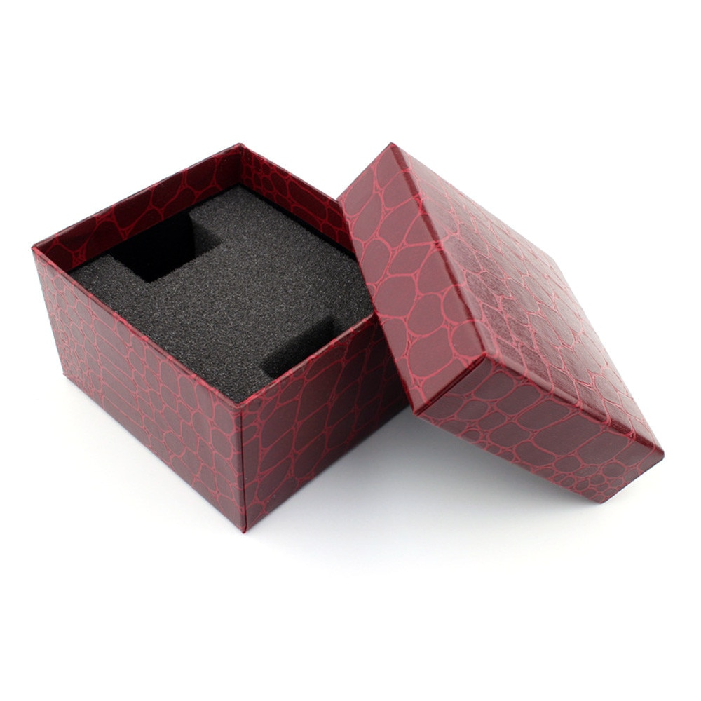 1 ud. Caja de regalo de cocodrilo rojo Durable para pulsera brazalete caja para reloj de joyería relojes Accesorios Cajas de reloj 11,21
