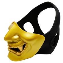 Halloween Half Face Ghost Shape Detachable Elastic Adjustable Headband Mouth Teeth Nose Protection Outdoor Helmet