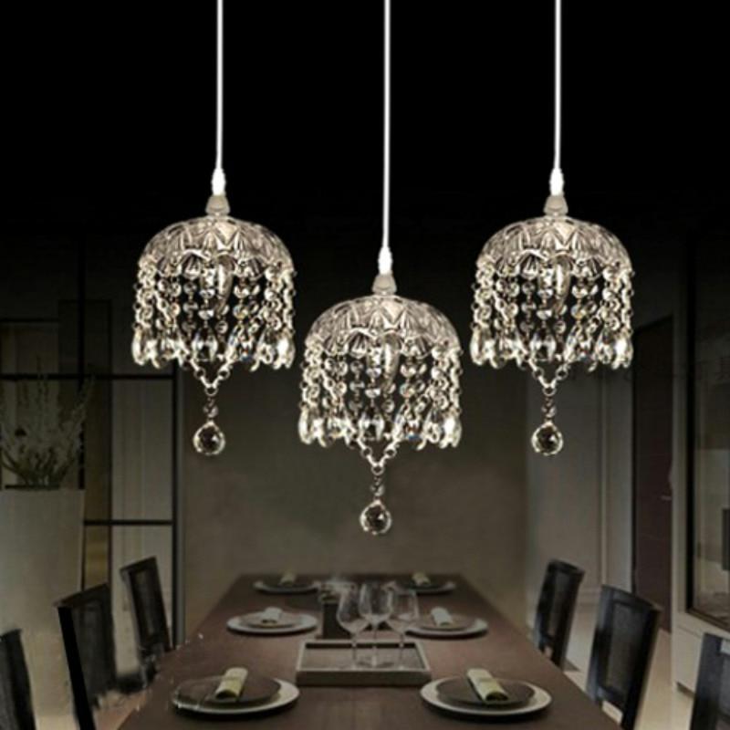مصباح قلادة زجاجي شفاف/رمادي/كهرماني K9 LED ، تركيبات إضاءة ، DIY ، ديكور منزلي ، غرفة معيشة ، لوح زجاجي ، E14