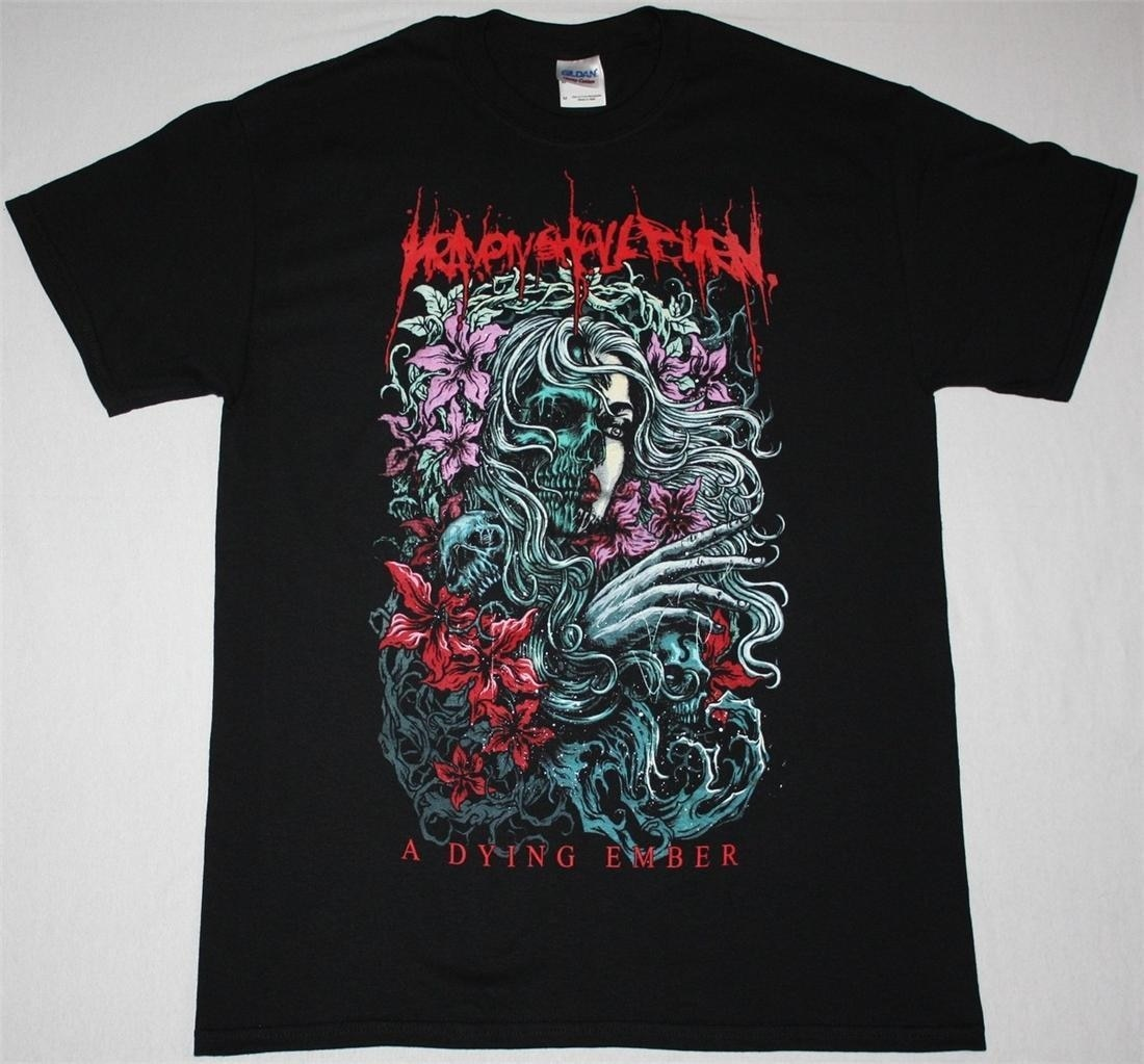 HEAVEN SHALL BURN A DYING EMBER METALCORE CALIBAN DEATH METAL nueva camiseta negra, oferta barata, camisetas 100% de algodón para niños