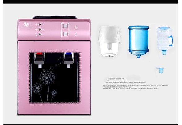 Dispensador de agua potable de escritorio, dispensador de agua caliente y fría, doble función, máquina dispensadora de agua portátil
