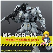 JAOparts ensemble de pièces modifiées en métal pour Bandai MG 1/100 MS-06R-1A Zaku II 2.0 S. Matsunaga Gundam DJ032 *