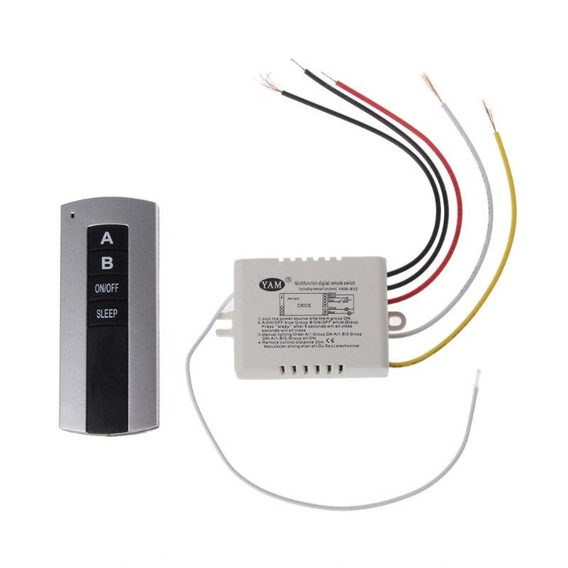 controle remoto sem fio 2 canais liga desliga a lampada transmissor receptor