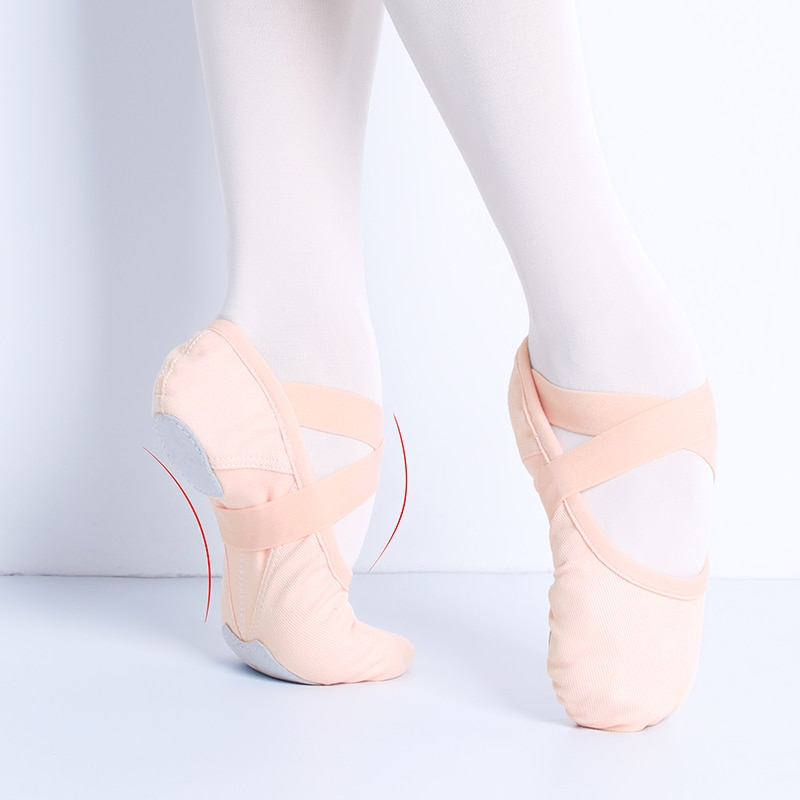 Single Shoelace Ballet Dance Shoes Stretch Fabric Ballet Slippers Girls Women Ballerina Ballet Flats Elastic Dance Shoes