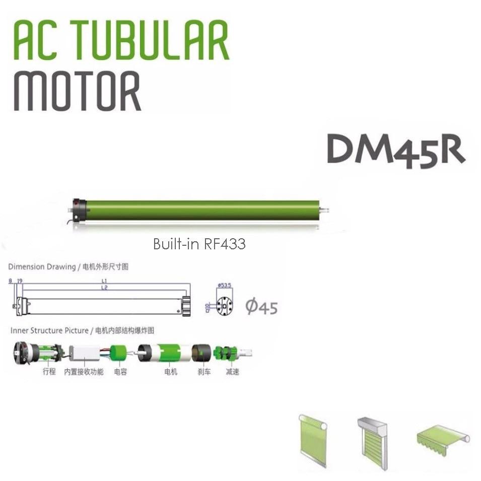 High Quality Original Dooya Tubular Motor DM45R/DM45S Motor for all kinds rolling blinds,220v 50HZ,RF433MHZ Motor/4-Wire motor