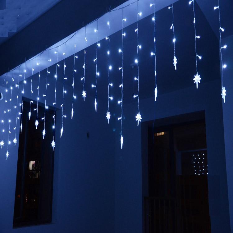 4M * 0,7 M 100 guirnaldas de luces LED 18P North Star Polaris Ice Bar guirnalda cortina luces para fiesta Navidad decoración de patio