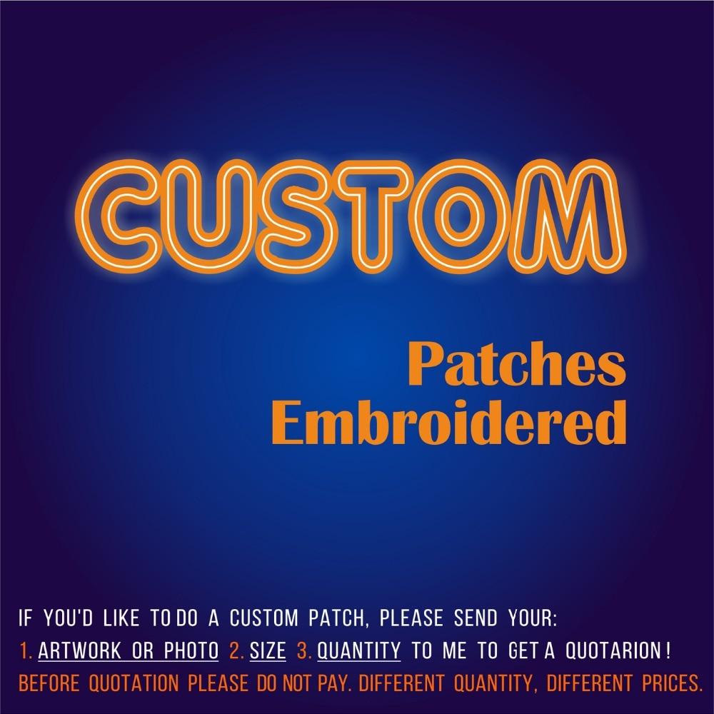 Recién llegado, parches bordados personalizados, parches de bordado 3D, plancha de personalización o gancho para tu Logo, ropa ecológica