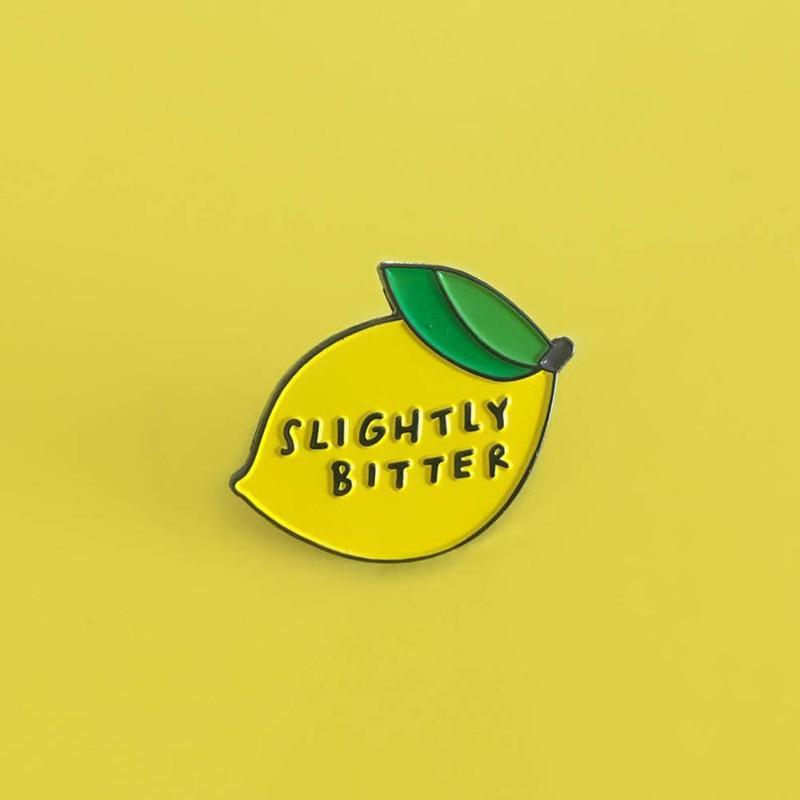Ярко-желтый лимон Мода фруктовая эмаль милый лимонный манго Брошь булавка металлический значок одежда ювелирные изделия аксессуары оптом для женщин