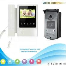 "YobangSecurity 4.3""inch Color Video Door Phone Waterproof Camera Monitor Rain Cover With Doorbell Home Security RFID Keyfobs"