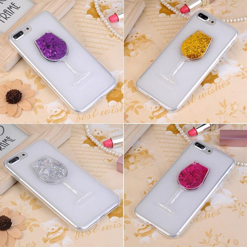 بلينغ السائل الرمال المتحركة الهاتف حقيبة لهاتف سامسونج غالاكسي S4 IV GT-I9500 i9505 بريق 3D سيدة كوب نبيذ أحمر الأصلي لينة غطاء