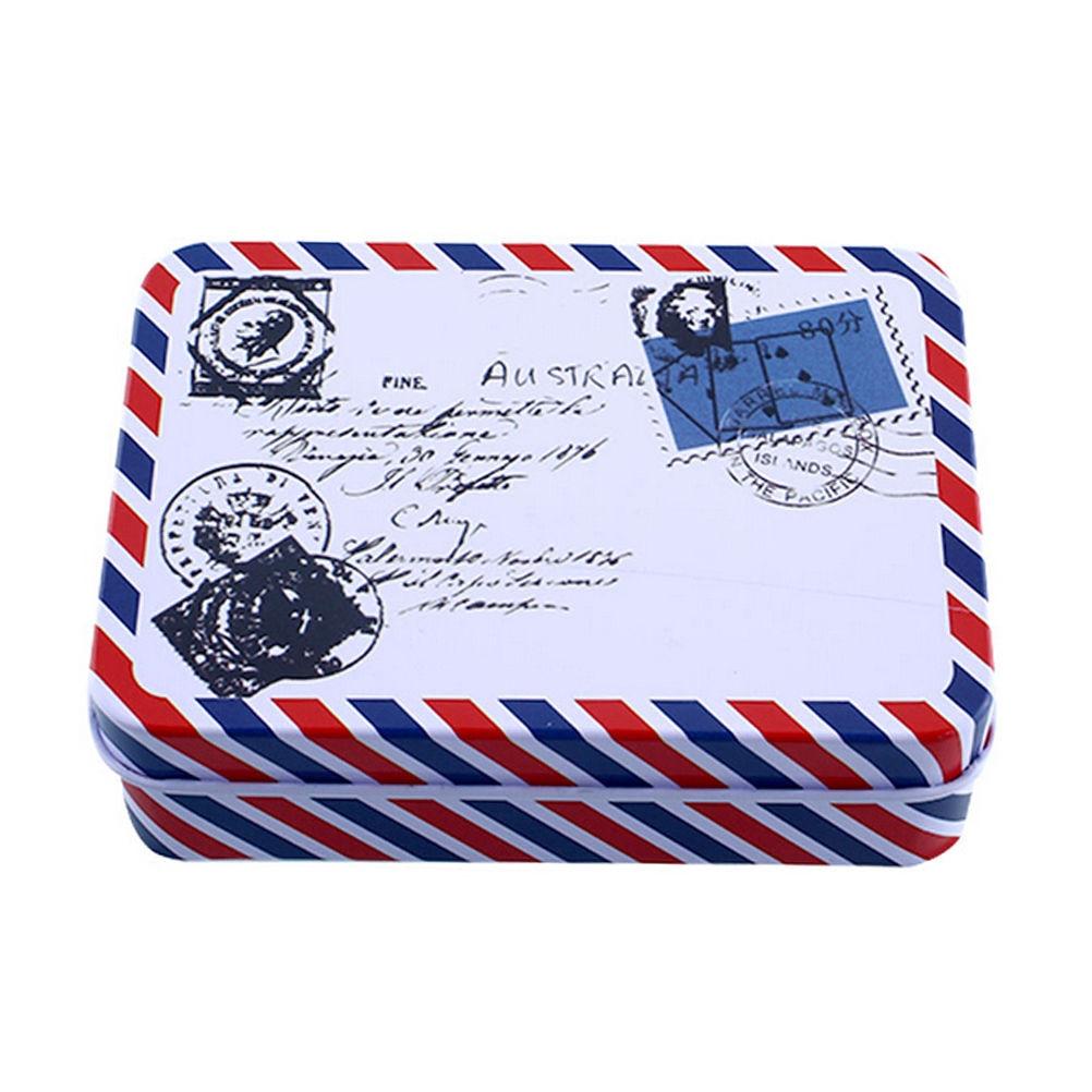 Mini Vintage Storage Tin Coin Bag Jewelry Box Lovely Print Girls Gifts Desk Storage Holder Cosmetic Stationery Organizer