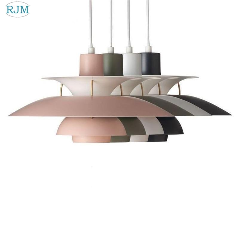 مصباح معلق LED من الألومنيوم بتصميم إسكندنافي حديث ، إضاءة زخرفية داخلية ، مثالي للمطبخ أو غرفة المعيشة أو غرفة النوم.