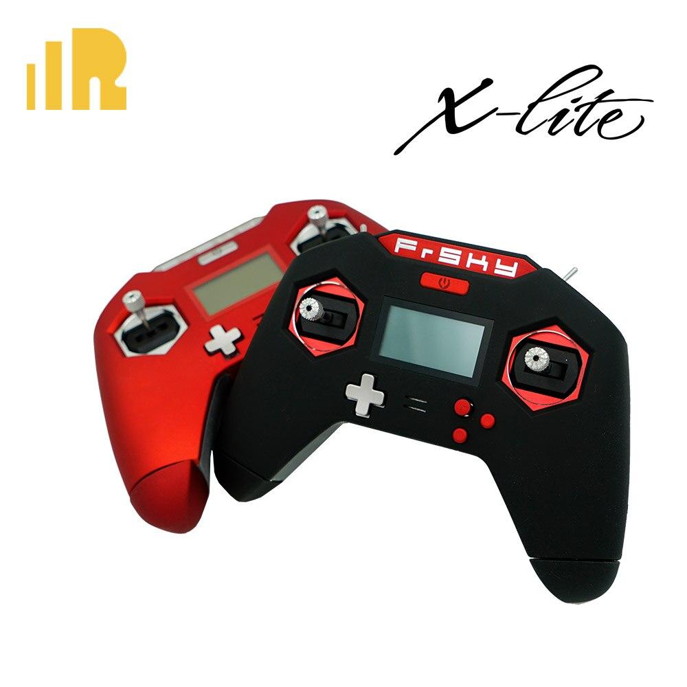 Envío Gratis Frsky Taranis x-lite 2,4 GHz transmisor radio rojo/Negro color fresco diseño nacido para drones FPV con bolsa EVA