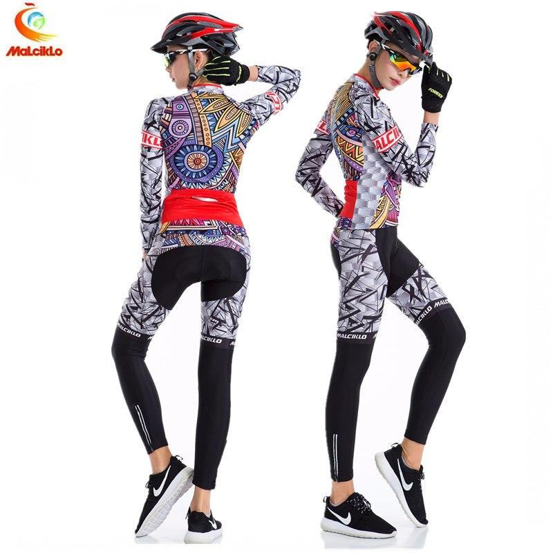 De malciklo para Ciclismo de mujeres Jersey de manga larga al aire libre deporte Ciclismo Ropa Ciclismo Mujer Gel Pad de verano