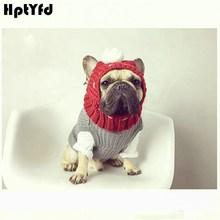 Casquettes pour chiens dhiver   Jolis chapeaux de noël pour chiens, accessoires de Costume, chapeau pour chiots en laine avec joli chapeau en boule, vêtements pour petits chiens moyens