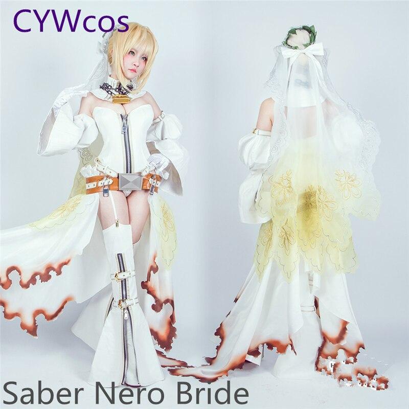 SABLE Nero Cosplay Fate/Grand Order FGO Nero Claudius Bride, disfraz de Cosplay Saber Bride, monos, trajes de verano