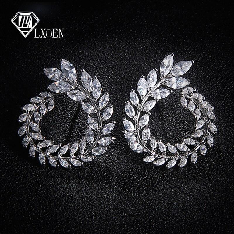LEXON Роскошные серьги с цирконием кубической огранки для женщин белого золота, модные брендовые Серьги Brincos подарок E119