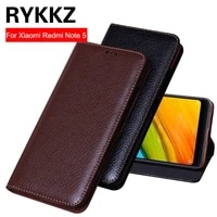rykkz luxury leather flip cover for xiaomi redmi note 5 protective case leather cover for redmi note 5 free shipping