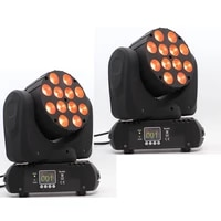 2pcslot led beam lights 12x12w moving head light beam with 1115 dmx channels and big screen easy to control