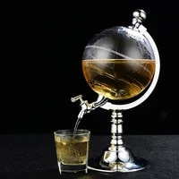 1 5 liters globe shape home night club beverage liquor dispenser beer liquid drinking dispenser