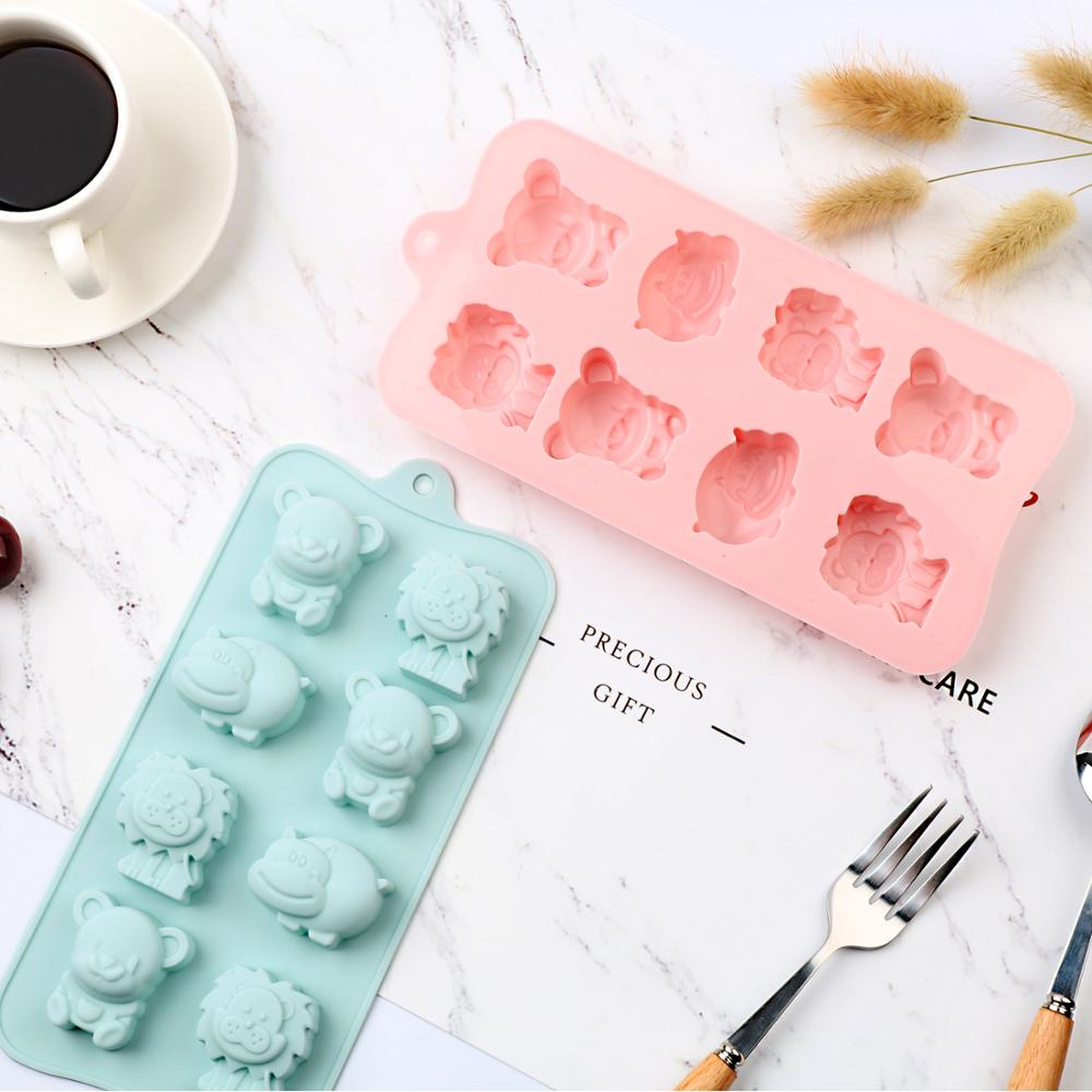 AliExpress - New Silicone Chocolate Molds Little lion hippo Bear Cake Mold Bar Block Ice club Silicone Cake Candy Mould Cake Tool 3D molds