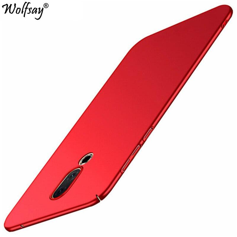 """Funda de Wolfsay para Meizu 16th funda Meizu 16 Snap845 6,0 """"Ultra delgada PC clásica piel suave caja mate del teléfono para Meizu 16th funda"""