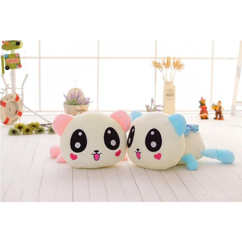 35cm Creative Light Up LED panda Stuffed Animals Plush Toy Colorful Glowing panda Christmas Gift for Kids Birthday gift