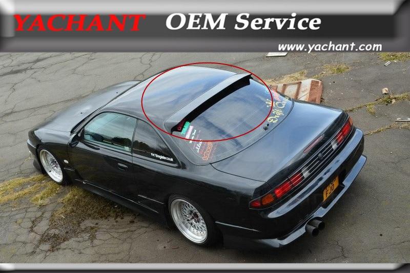 Car-Styling Carbon Fiber Rear Roof Spoiler Fit For 1995-1998 S14 S14A Silvia Zenki Kouki DM Style Roof Spoiler Wing