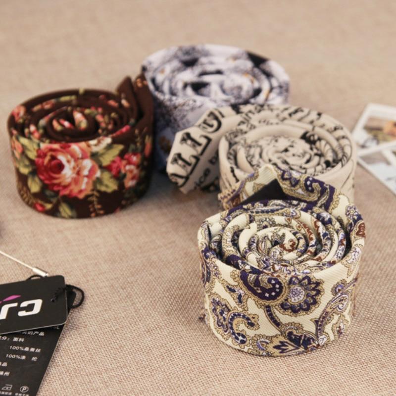 الكورية الأزياء مصمم الهيب هوب حزب نحيل التعادل ضئيلة 5 سنتيمتر الزهور القطن الكتان الجاكار gravatas العلاقات للرجال 100 قطعة فيديكس