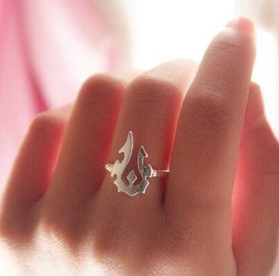 ZRM joyería de moda colgante de plata mundo de anillo de Warcraft regalos de las mujeres, suministro Original de la fábrica